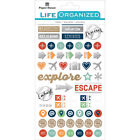 Paper House Life Organized Planner Stickers 45X75 Travel 4 Pkg