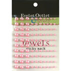 Eyelet Outlet Bling Self Adhesive Pearls Multi Size 100 Pkg Pink