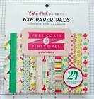 scrapbooking paper 6X6 Pad Its A girl Dots  Stripes pink green yellow red