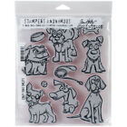 Stampers Anonymous CMS 271 Tim Holtz Cling Stamps 7X85 Crazy Dogs