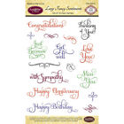 Justrite Papercraft JustRite Papercraft Clear Stamps 4X6 Large Fancy Sentiment