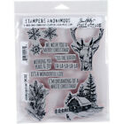 Stampers Anonymous Tim Holtz Cling Stamps 7X85 Scribble Woodland