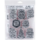 Stampers Anonymous Tim Holtz Cling Stamps 7X85 Doodle Greetings