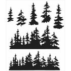 Stampers Anonymous CMS 244 Tim Holtz Cling Stamps 7X85 Tree Line