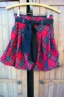 Girls Pumpkin Patch SIZE 9 BUBBLE SKIRT RED  BLACK PLAID WITH TULLE ON THE HEM