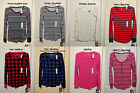 NWT Old Navy Womens Long Sleeve Thermal Waffle CrewNeck Henley Tee Top XS S M L