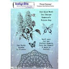 IndigoBlu IND0248 Cling Mounted Stamp 8X55 Floral Fancy