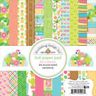 Doodlebug Double Sided Paper Pad 6X6 24 Pkg Fun In The Sun 12 Designs 2 Each