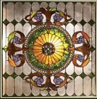 Handcrafted Window Panel Stained Glass 25 X 25 Great Colors 569 Pieces Glass