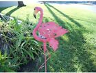 Flamingo Garden Stake Glass Crackle Solar Decoration Patio Porch Yard Light Pink