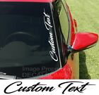 Custom Text Script Vertical Side Windshield Decal 22x3 Vinyl Truck Turbo Diesel