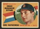 1960 TOPPS YAZ ROOKIE CARD-1979 OZZIE SMITH ROOKIE CARD-2 CARD LOT-SEE DETAILS