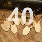 40 Custom Made Wooden Oval Personalized Luggage ID Tag with Your Name