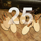25 Custom Made Wooden Oval Personalized Luggage ID Tag with Your Name