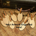 10 Custom Made Wooden Oval Personalized Luggage ID Tag with Your Name