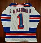 Eddie Giacomin Autographed Signed Jersey New York Rangers JSA