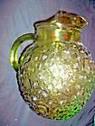 Vintage Green Textured Glass Anchor Hocking Art Deco Water Tea Pitcher RARE