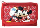 NEW DISNEY MICKEY AND MINNIE MOUSE KID TRI FOLD WALLET RED ORIGINAL LICENSED