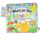 First Steps Babies Toddlers Whos In The Garden Cloth Book With Fun Squeaker