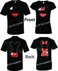 Mickey and Minnie Disney Holding hands Couple matching funny cute TShirt S 4XL