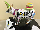 COW PARADE HAPPY BIRTHDAY TO MOO Large Statue Figurine, Size 6