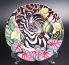 FITZ AND FLOYD EXOTIC JUNGLE ZEBRA SALAD PLATE-NEW WITH TAGS