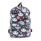 Kitty Cat Face Cotton BackpackLined1 Zippered Outside PocketLaptop Sleeve 16