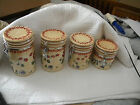 CERTIFIED INTERNATIONAL PAMELA GLADDING SET OF 4 CANISTERS W/HERMETIC LIDS
