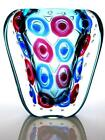 SIGNED Massive Murano Sommerso Submerged Murrine Glass Vase Luigi Onesto