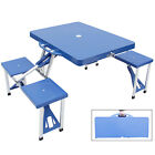 Folding Table and Seats Set Suitcase Outdoor Portable Camp Picnic Garden Lawn