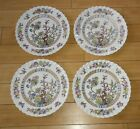 4 Vintage Royal Doulton Hand Painted Bone China Indian Tree DINNER Plates lot#1