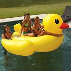 Rubber Duck Pool Float Duckie 2 Person Raft Lounger Lake Toy MEGA Size