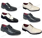 New Mens Dress Shoes Lace Up Tuxedo Wedding Oxfords Formal Italy Patent Party
