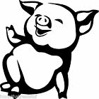 Funny Pig Farm Animal Cute Decal Sticker Best Gift ALL DECALS BUY 2 GET 1 FREE