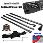 Fit For 04 14 Ford F150 Spare Tire Tool Kit Lug Wrench W 2 Tonne Scissor Jack
