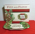 Fitz And Floyd Happy Holidays Winter Claus Sentiment Tray Platter New in Box
