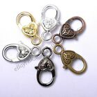 Gold Silver Plated Bronze Copper  Floral Charms Heart Lobster Clasps