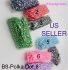 US SELLER Tie Dye POLKA DOT RUBBER BANDS  CLIPS for Rainbow Loom Bracelets