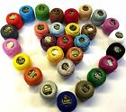 20 Anchor + 10 Variegated Pearl Cotton Crochet Balls Best Colour Shades Size8