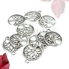 10Pcs Tibetan Silver Tree of Life Circle Charms Pendants For Jewelry Findings