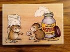 RUBBER STAMP STAMPABILITIES HOUSE MOUSE CHEWABLE ASPRIN 1987 HMLR1004