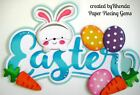 EASTER W BUNNY paper piecing TITLE for Premade Scrapbook Pages by Rhonda