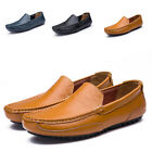 New Men Driving Casual Boat Shoes Leather Moccasin Fashion Slip On Flats Loafers