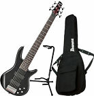 Ibanez GSR206 GIO Series Black 6-String Electric Bass Guitar w/Gig Bag and