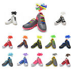 No Tie Elastic Shoelaces Silicone Flat Round Shoe Laces Sneakers Boots athletic