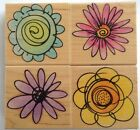 Hero Arts Fashion Blooms Rubber Stamp Set 4 pc LL993 New
