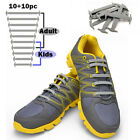 TOTOMO Gray No Tie Elastic Shoelaces Silicone Tieless Shoe Laces for Tennis boot