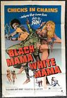 Black Mama White Mama Pam Grier 1972 Authentic One Sheet Movie Poster 27x41