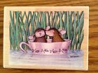 RUBBER STAMP HOUSE MOUSE STAMPABILITIES LOVE IN A TEA CUP HMUR1006