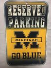Michigan Wolverines NEW Reserved Parking Wooden Sign  NCAA College Gift Fan NWT